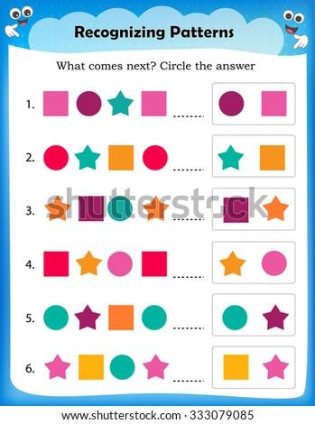 Royalty Free Stock Illustration of Worksheet Understanding Patterns ...