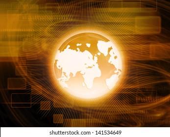 World Business Background,Orange