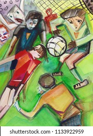 The World championship on football, dangerous position at football gate