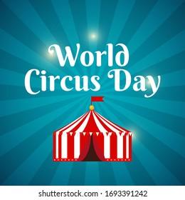World Circus Day Background  Illustration