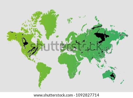 Coal World Map.World Coal Deposits Stock Illustration 1092827714 Shutterstock
