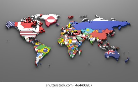 World map flags images stock photos vectors shutterstock world countries flags map symbols 3d render gumiabroncs Image collections