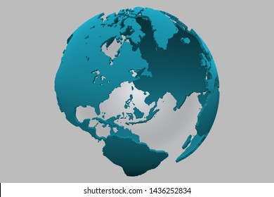 World earth globe background 3D illustration, 3d render, global population