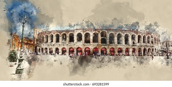 World famous Arena of Verona