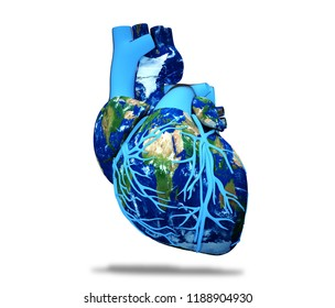 world heart day concept 3d rendering illustration