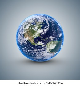 World isolated on blue gray background
