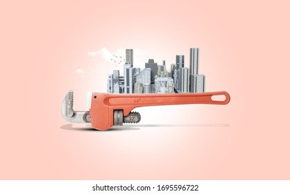 World labor day 1 may design with illustration background, poster, banner, 3d concept.