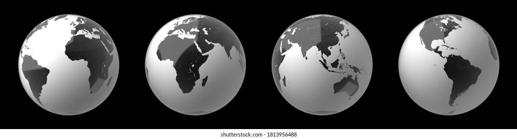 Weltkarte - 3D-Illustration