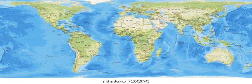 World Map Colorful Background Stock Illustration - Royalty Free ...