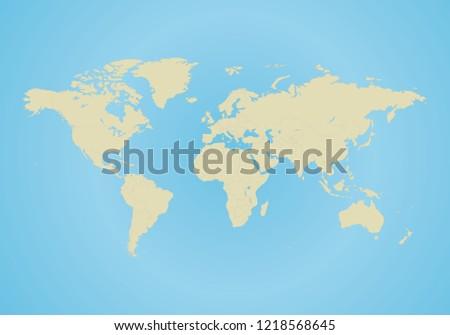 World Map All Country Borders Dark Stock Illustration 1218568645