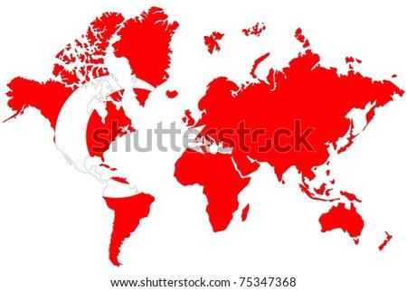 World Map Background Turkey Flag Stock Illustration - Royalty Free ...