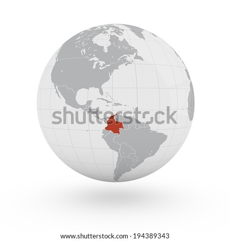 World Map Colombia America Stockillustration 194389343 – Shutterstock