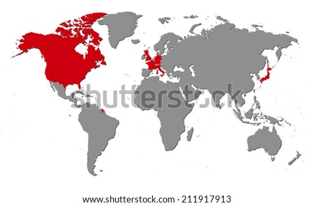 World Map Of Continents And Countries.Royalty Free Stock Illustration Of World Map Continents G 7