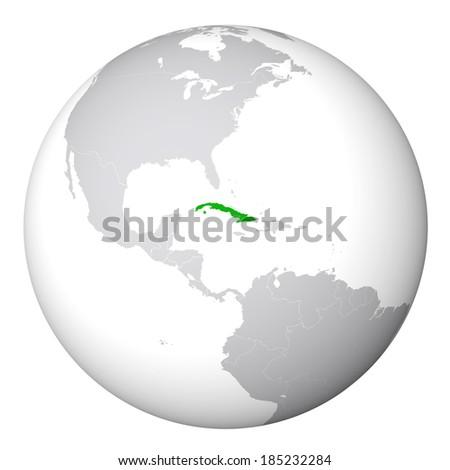 Royalty Free Stock Illustration Of World Map Cuba Stock Illustration