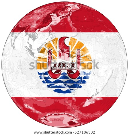 Royalty Free Stock Illustration Of World Map Depiction Flag French