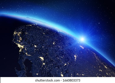 World map. Elements of this image furnished by NASA. 3d rendering