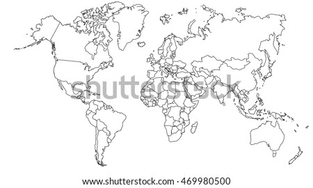 World map europe asia north america stock illustration royalty world map europe asia north america south america africa australia gumiabroncs Gallery