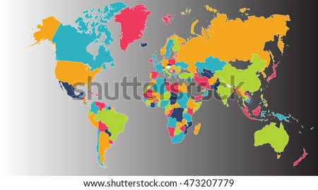 Royalty Free Stock Illustration Of World Map Europe Asia North