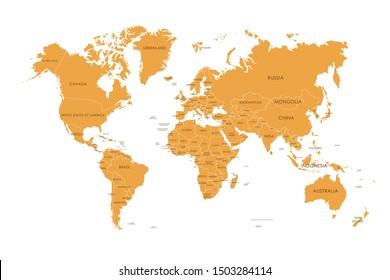 Imagenes Fotos De Stock Y Vectores Sobre Mapa Del Mundo Con