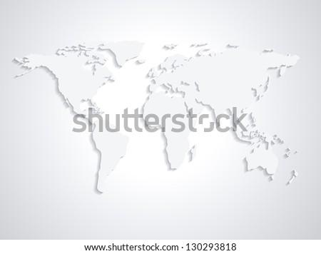 Royalty Free Stock Illustration Of World Map From Nasa Public Domain