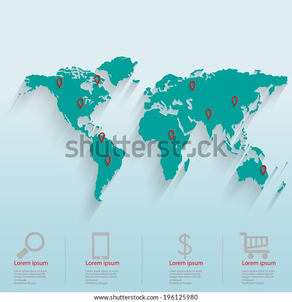 World map with graphs business success strategy plan idea and pictures for business, strategies, ideas, the concept of patterns for success.