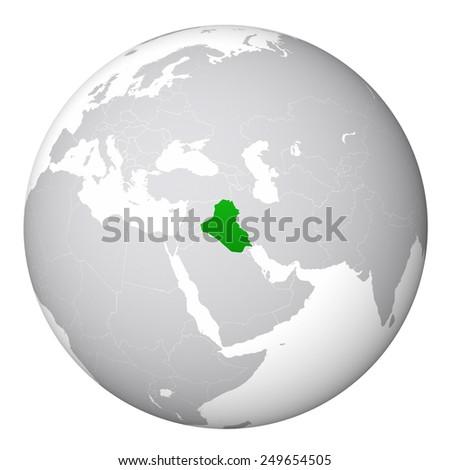 World Map Iraq Stock Illustration - Royalty Free Stock Illustration ...