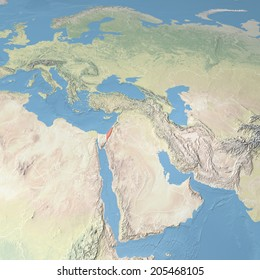 World Map Map Israel, the images is furnished by NASA
