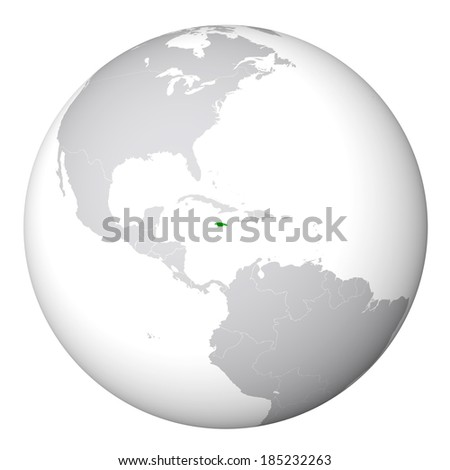 World Map Jamaica Stock Illustration 185232263 - Shutterstock