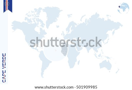 Where Is Cape Verde Located On The World Map.Royalty Free Stock Illustration Of World Map Magnifying On Cape