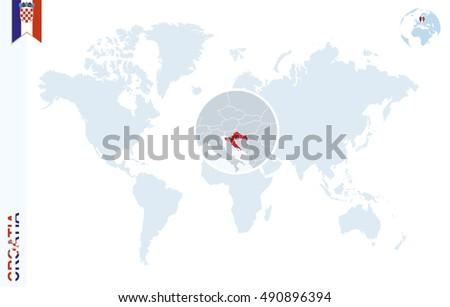 Royalty Free Stock Illustration Of World Map Magnifying On Croatia