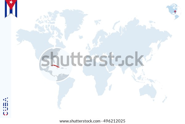 World Map Magnifying On Cuba Blue | Backgrounds/Textures ...