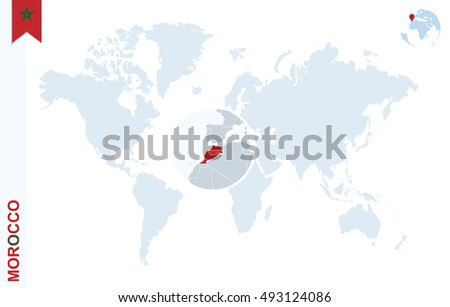 Royalty Free Stock Illustration Of World Map Magnifying On Morocco