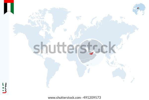 World Map Magnifying On United Arab Stock Illustration 491209573 on world map in bangladesh, world map australia, world map bahrain, world map qatar, world map in norway, world map in russia, world map india, world map in austria, world map in sri lanka, world map in chile, world map in vietnam, world map in china, world map in england, world map in nigeria, world map dubai uae, world map oman, world map in france, world map usa, world map egypt, world map people,