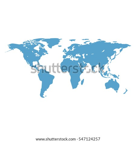 World map main outlines continents flat stock illustration 547124257 world map the main outlines of the continents flat design abstract concept gumiabroncs Image collections
