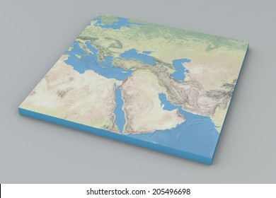 World Map, middle east, Israel