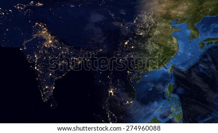 World map montage asia day night stock illustration 274960088 world map montage asia day night contrast public domain maps furnished by nasa gumiabroncs Image collections