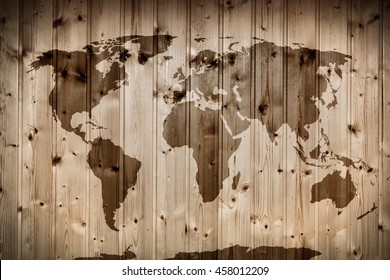 World+map+wood Images, Stock Photos & Vectors | Shutterstock