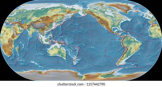 World map 3d images stock photos vectors shutterstock world map in the ortelius oval projection centered on 170 west longitude topographic relief map gumiabroncs Gallery