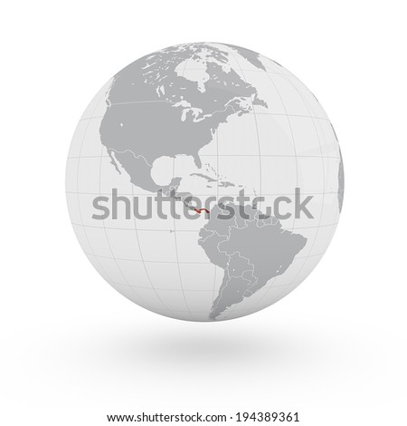 Royalty Free Stock Illustration of World Map Panama America Stock ...