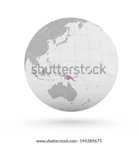 Royalty Free Stock Illustration Of World Map Papua New Guinea