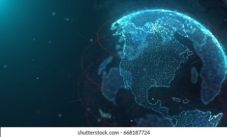 World Map Particle Network 02