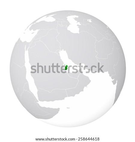 World Map Qatar Stock Illustration 258644618 - Shutterstock