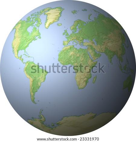 World Map Showing Whole World On Stockillustration 23331970 ...