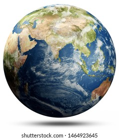 World map sphere. Elements of this image furnished by NASA. 3d rendering