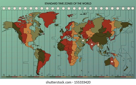 World Time Zones Images, Stock Photos & Vectors | Shutterstock