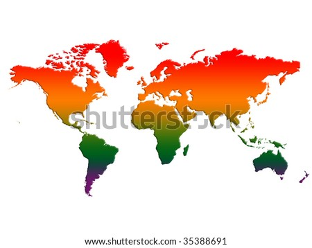 World Map Temperature Rising Stock Illustration 35388691 - Shutterstock
