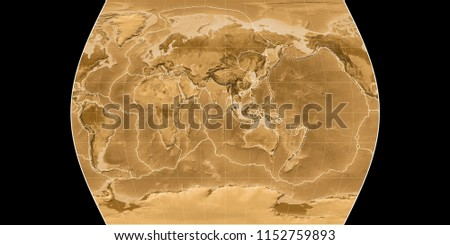 Royalty Free Stock Illustration Of World Map Times Atlas Projection