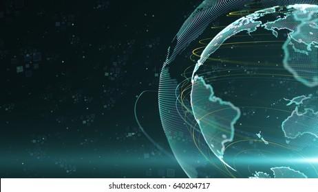 World Network Communication News Graphic