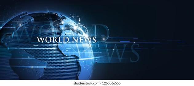 world news live 3d rendering
