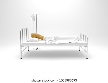 World No Tobacco Day, Stop smoking concept, Cigarette on bed. 3D illustration
